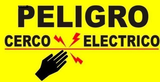 letrero disuacion cerco electrico