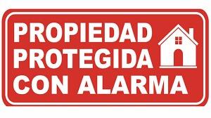 propiedad protegida con alarma