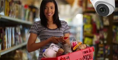 camaras de segruidad en supermercado